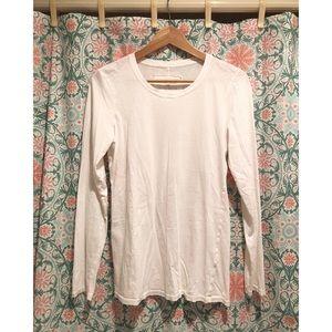 MICHAEL STARS White Pima Cotton long sleeve shirt